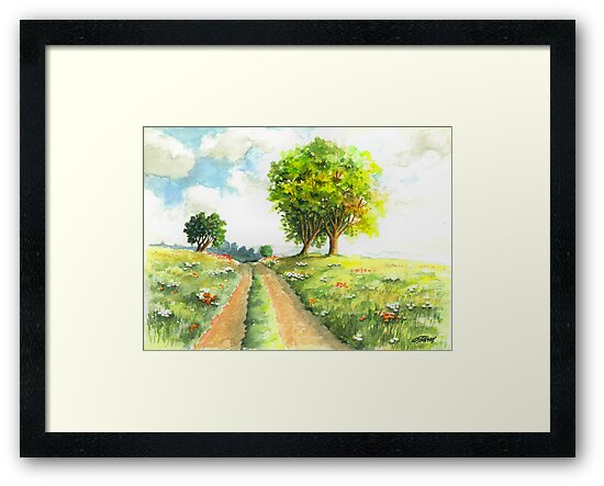 LANDSCAPE WITH COUNTRY ROAD by RainbowArt