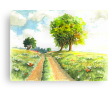 LANDSCAPE WITH COUNTRY ROAD Canvas Print