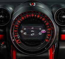 Elegant speed control dashboard by modern sport car by Alexander Sorokopud