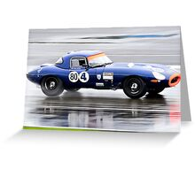 E Type Challenge No 80 Greeting Card