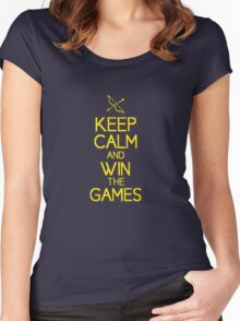 keep calm and win the games Women's Fitted Scoop T-Shirt