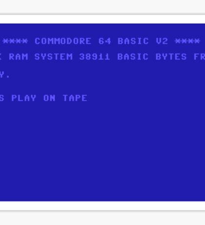 Commodore 64 Screen Sticker