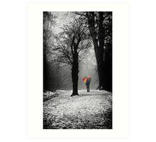 A Lonely Winters Walk Art Print