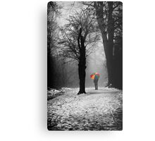 A Lonely Winters Walk Metal Print
