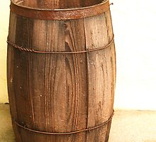 VERY OLD WOODEN KEG by BCallahan