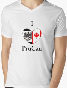 I Heart PruCan Mens V-Neck T-Shirt