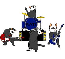 Cats in a Band by lyneo