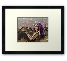 Purple Hair Framed Print