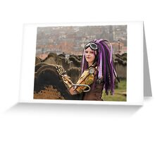 Purple Hair Greeting Card