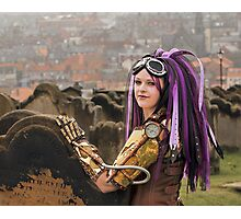 Purple Hair Photographic Print