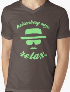 Heisenberg says relax. Mens V-Neck T-Shirt