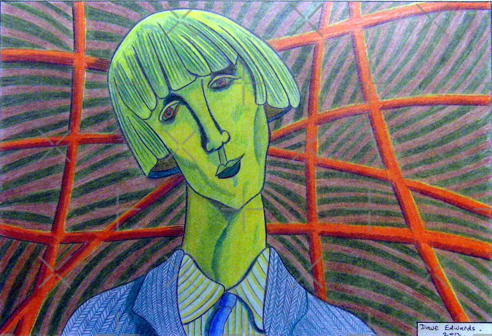 357 - MADAME KISLING IN GREEN - DAVE EDWARDS - COLOURED PENCILS - 2012 by BLYTHART