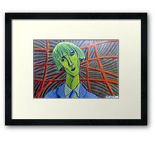 357 - MADAME KISLING IN GREEN - DAVE EDWARDS - COLOURED PENCILS - 2012 Framed Print