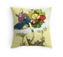 Dreaming Alice in Color Throw Pillow