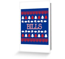 Buffalo Bills Ugly Christmas Costume. Greeting Card