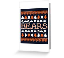 Chicago Bears Ugly Christmas Costume. Greeting Card
