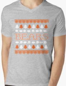 Chicago Bears Ugly Christmas Costume. Mens V-Neck T-Shirt