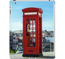 Red telephon box on the street. Porto, Portugal iPad Case/Skin
