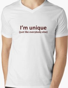 I'm unique Mens V-Neck T-Shirt