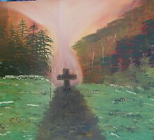 """""""Road To The Cross""""  by Carter L. Shepard by echoesofheaven"""