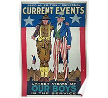 Special edition of universal current events Latest views of our boys in the service Poster