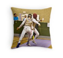 Three feet off the piste! Throw Pillow