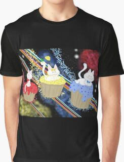 Space Cupcake Kittens Graphic T-Shirt