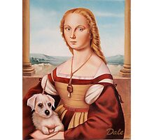 Lady with Giulietta Photographic Print