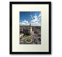 Tarascon birdfly view from the top of castle. France. Framed Print