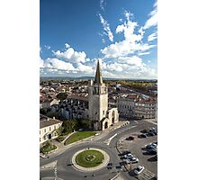 Tarascon birdfly view from the top of castle. France. Photographic Print