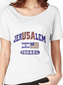 JerUSAlem: Israel Supports Israel Women's Relaxed Fit T-Shirt