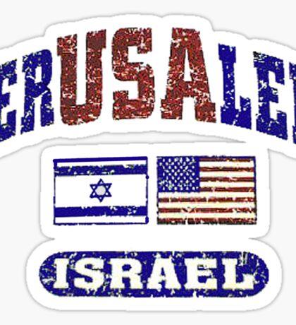 JerUSAlem: Israel Supports Israel Sticker
