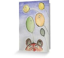 Bear and Balloons Greeting Card