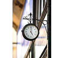 Vintage style street clock view. Center of Budapest, Hungary. Photographic Print