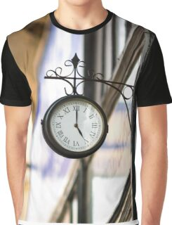 Vintage style street clock view. Center of Budapest, Hungary. Graphic T-Shirt