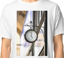 Vintage style street clock view. Center of Budapest, Hungary. Classic T-Shirt