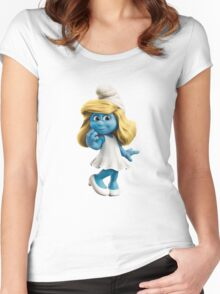 Smurfette Women's Fitted Scoop T-Shirt