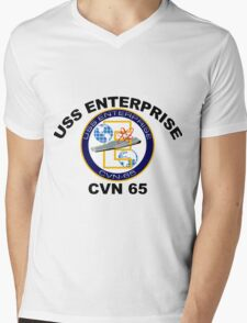 USS Enterprise (CVN-65) Mens V-Neck T-Shirt