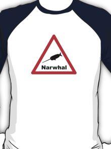 Warning Narwhal T-Shirt