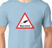Warning Narwhal Unisex T-Shirt