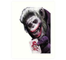 Joker Mokey Art Print
