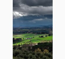 Stormy weather landscape with beautiful light, Tuscany, Italy Classic T-Shirt