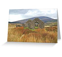 Miner House Ruins in Wicklow Mountains, Ireland. Greeting Card