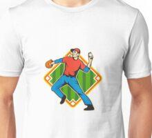 Baseball Player Pitcher Throwing Ball Unisex T-Shirt