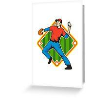 Baseball Player Pitcher Throwing Ball Greeting Card