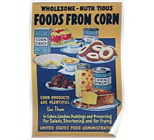 Wholesome  nutritious foods from corn 002 Poster