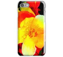 Drenched with wet, yet bright and sunny. iPhone Case/Skin