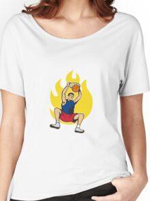 Basketball Player Dunking Ball Women's Relaxed Fit T-Shirt