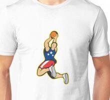 Basketball Player Shooting Jumping Ball Unisex T-Shirt