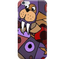 Funny Cool Walrus Playing Guitar Abstract iPhone Case/Skin